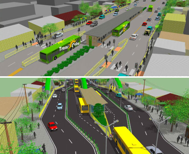 Cebu BRT stations