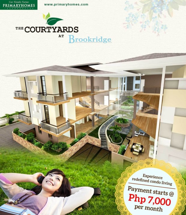 SALES PROMO. The Courtyards at Brookridge is offering a great BER deal promo with payments start at P7,000 per month.