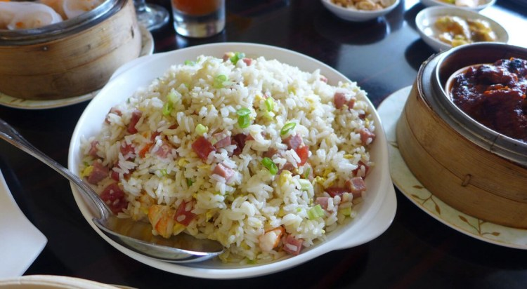 Yang chow fried rice. Diners have the option of ordering yang chow or congee.