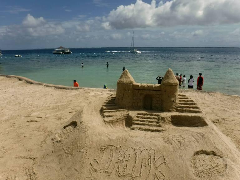 Jpark beach sand castle