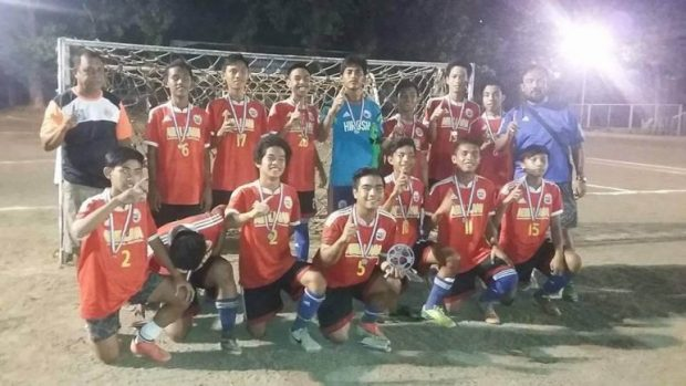 CHAMPIONS. Abellana National School defeated Don Bosco twice to win the Boys 18 division.