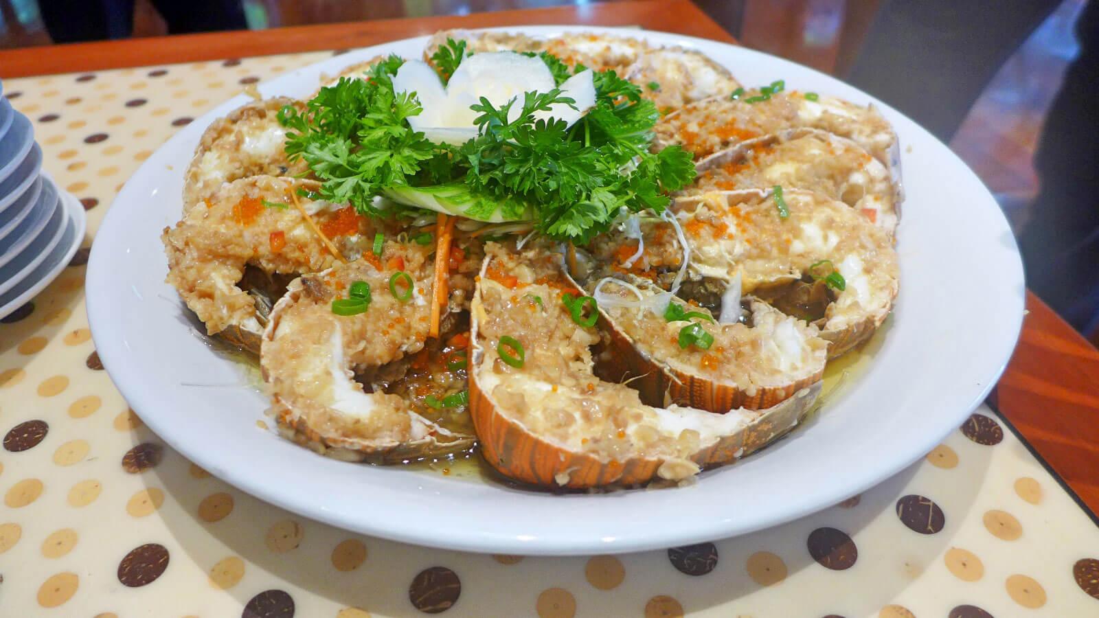 Baked lobster Cafe Marco Marco Polo Plaza Cebu