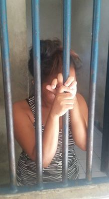 70 FIRST TIMES. Kathy, 22, said it was her first tie to send pictures of her naked kids to a foreigner but cops find 70 transactions slips during her arrest. (Photo from Wang-Wang Cebu's Facebook page)