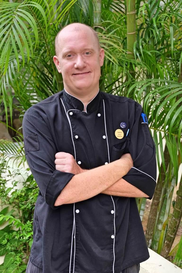 American guest chef Jason Burgett