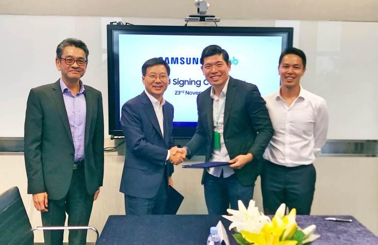 Grab, Samsung agreement