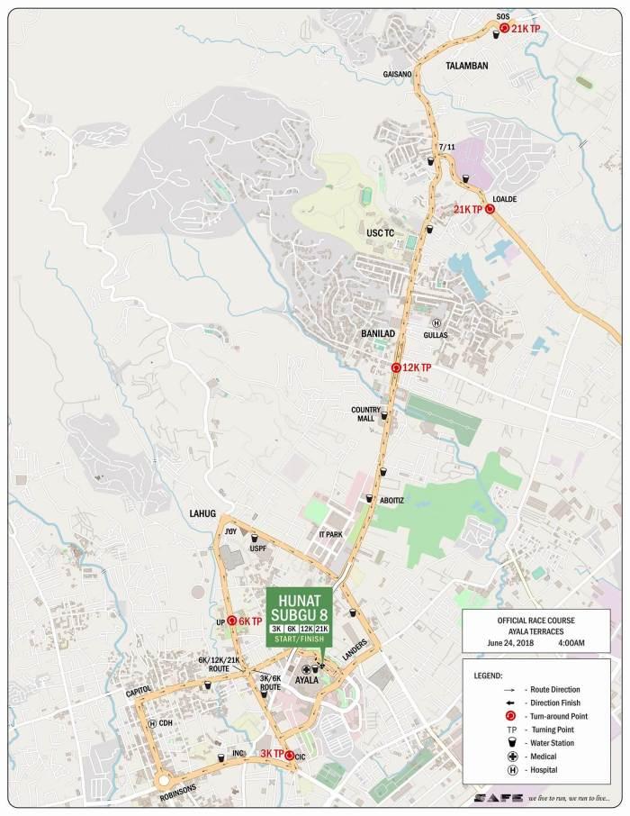 Hunat Sugbo 8 race route