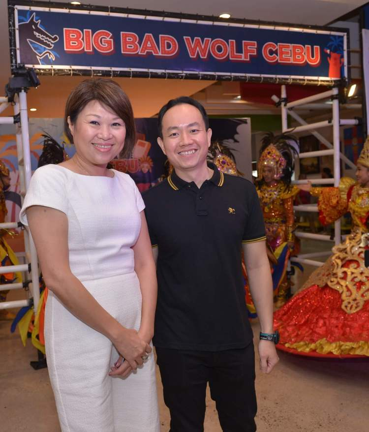 BIG BAD WOLF book sale founders Jacqueline Ng and Andrew Yap.