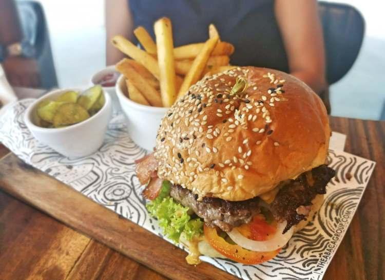 Abaca Baking Company burger