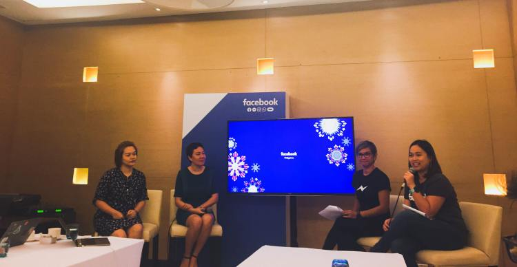 EMPOWERING ENTREPRENEURS. (From left) Jackie Morales of Digital Printing PH; Gina Romero, CEO and co-founder of Connected Women; Facebook Philippines Client Partner Chay Mondejar-Saputil; and Facebook Philippines Communications Manager Michelle Fojas brief reporters and bloggers about Friday's Accelerator Workshop for Cebu businesses.