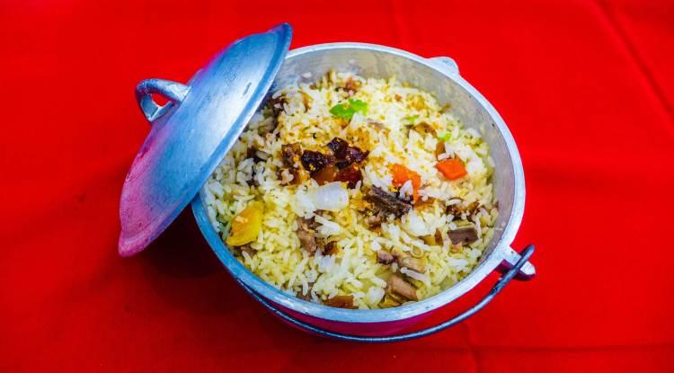 Sisig fried rice Rico's Lechon