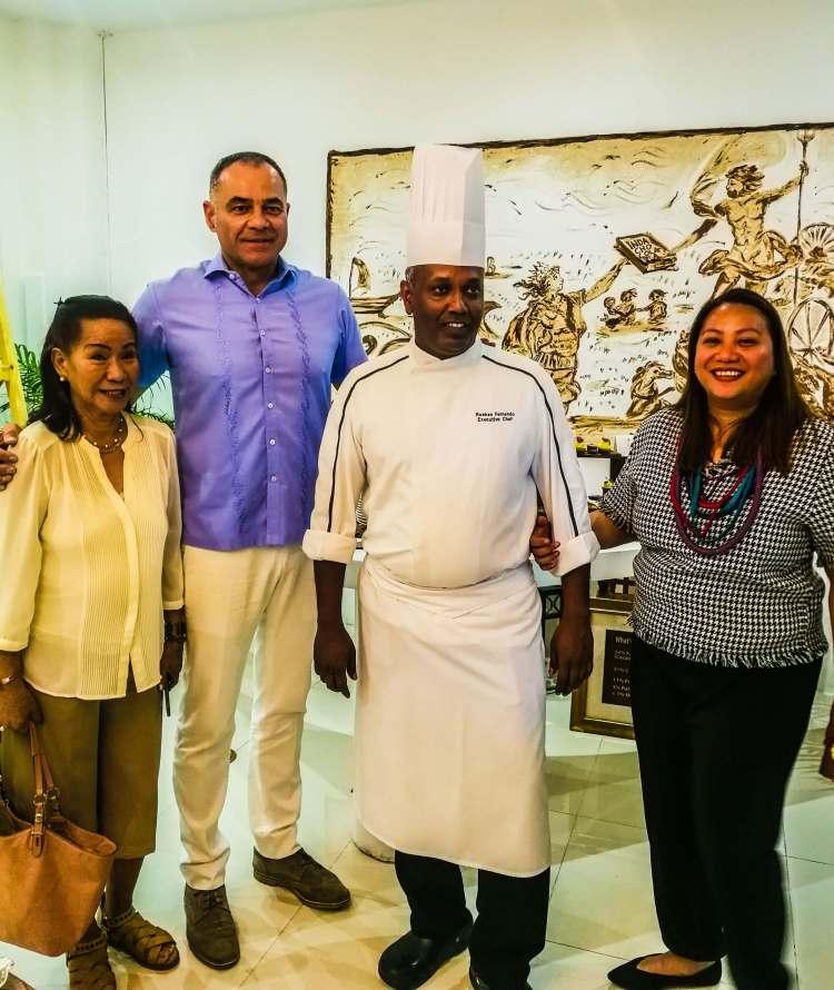 GM Rene Egle with Executive Chef Roshan Fernando.