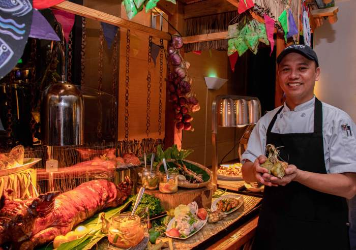 Quest Hotel Cebu's all-day dining restaurant Pusô Bistro & Bar sets a hearty Cebuano spread of seafood and lechon for the Sinulog Fiesta Buffet from January 17 to 19. The Sinulog Lunch Buffet is at P850 net per person and the Sinulog Dinner Buffet is at P1,200 net per person.