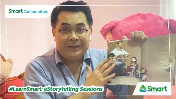 """SHARE LOVE OF READING. DepEd Undersecretary Tonisito M.C. Umali says, """"as a parent, I acknowledge the importance of storytelling to our children. Storytelling was one of my ways to share the love for reading. It became a bonding moment for me and my kids when they were younger."""""""