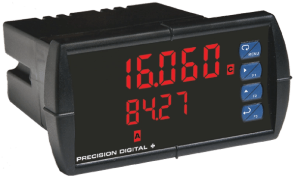 Precision Digital PD6060 ProVu Dual Analog Input Process Digital Panel Meter