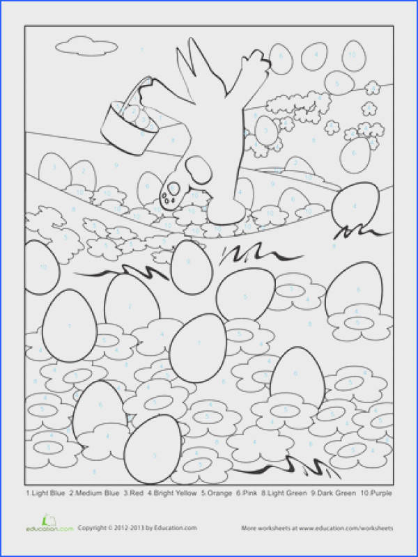 Easter Math Color by Code Pictures Double Digit Addition