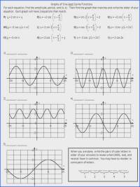 Writing Equations Of Sine And Cosine Functions Worksheet ...