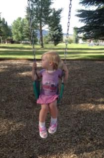 On the big girl swing :)