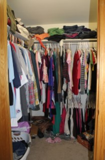 Joint closet w/majority of our clothes