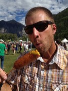 Hand dipped corn dogs - Charlie's favorite :)