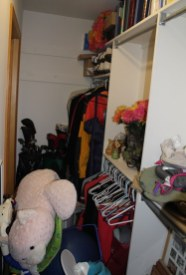 View down the long closet