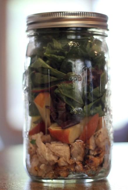 Chicken & Apple Salad, Mason Jar Salad, 21 Day Fix Approved