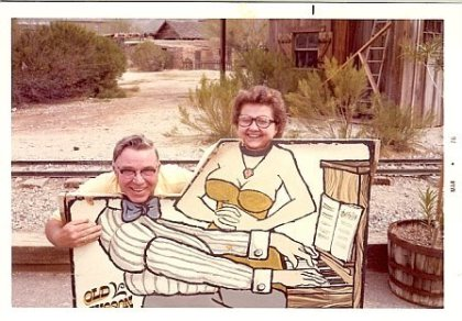 Grandpa & Grandma, being silly :)