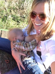 Nursing on a hay ride at the pumpkin patch. I so wish this could be the entirety of our experience instead of this pumping shit.