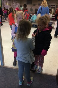 Telling her new friends how old she is! (3)