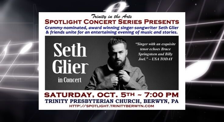 CONCERT: Grammy-nominated Singer-songwriter Seth Glier and Friends