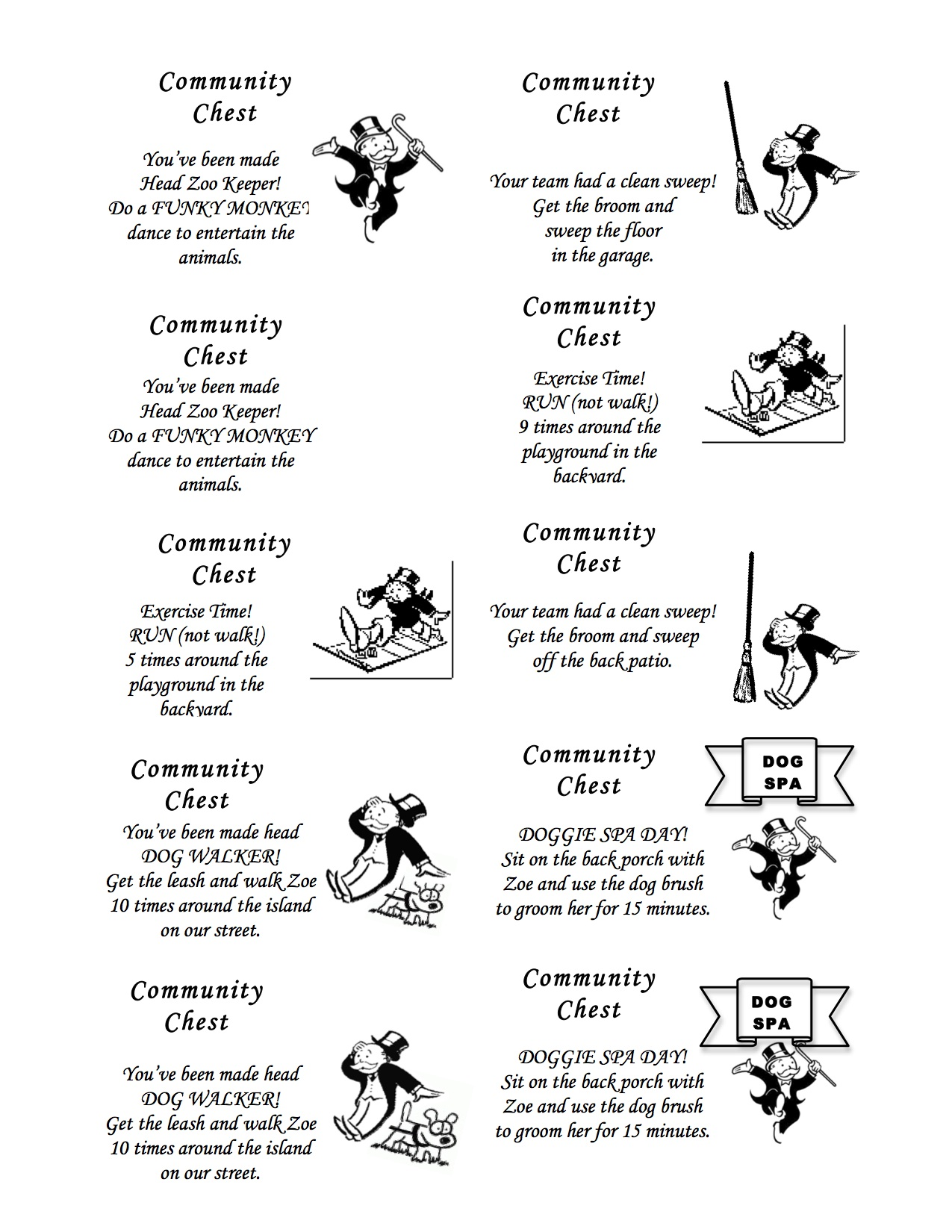 Monopoly Chance Cards Printable That Are Eloquent