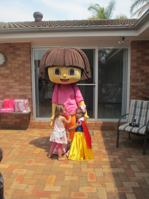 Dora comes to Visit Layla & friends on her birthday! What a surprise..