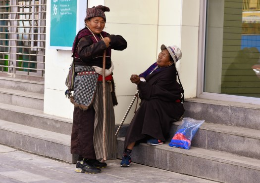 Old ladies on the streets of Xiahe