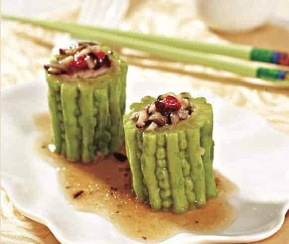 Chinese Steamed Minced Chicken with Bitter Melon Recipe