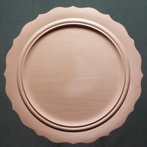 Scalloped Beaded Narrow Rim Plate