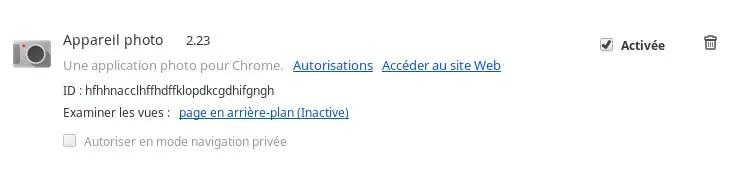 Screenshot 20supprimer Extension