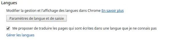 Google translate automatique