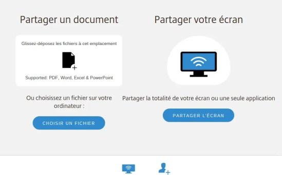 Gotomeeting paratager fichier écran