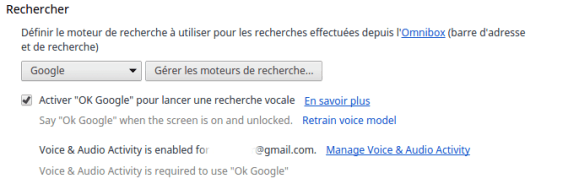 Activer Ok Google