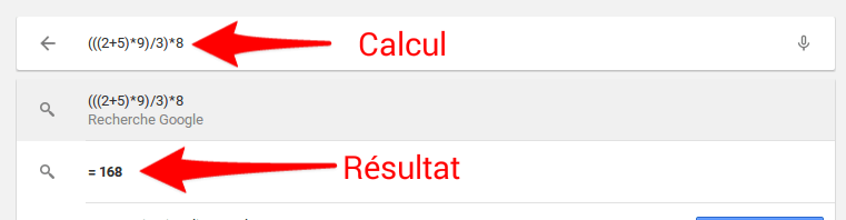 Calcul dans lanceur d'application