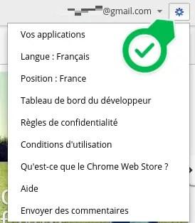 Chrome Web Paramètres