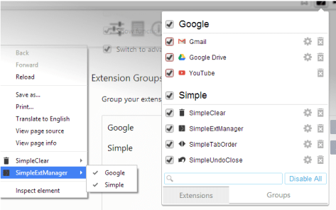 SimpleExtManager Groupe