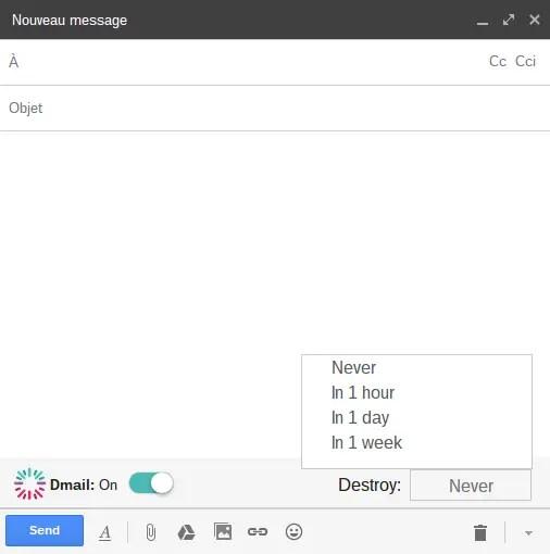Utilisation Dmail