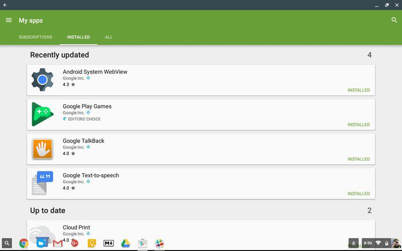 Mettre à jour les applications Android sur Chromebook