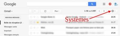 Activer l'icône de message non lu dans l'onglet épinglé de Gmail sur chromebook