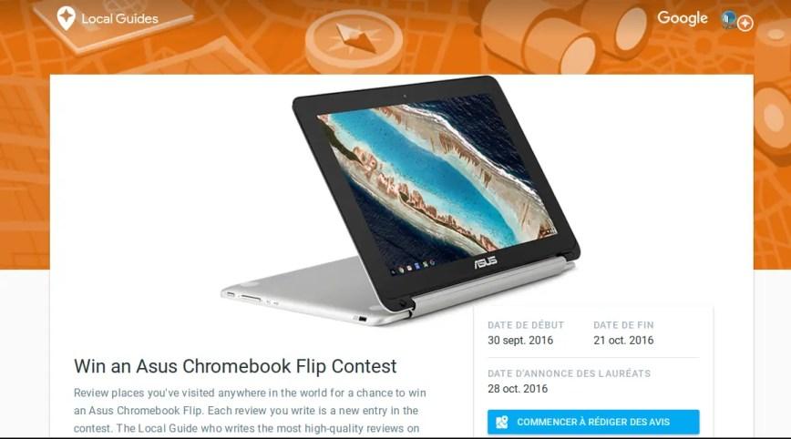 Tentez de gagner un Chromebook Asus Chromebook Flip