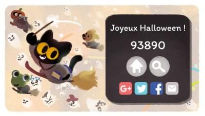 Google fête Halloween avec son Doodle accessible sur Chromebook