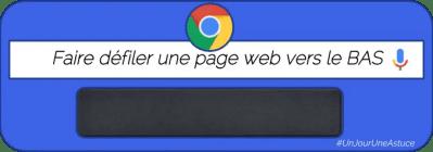 Défilez rapidement vers le bas sur une page web #UnJourUneAstuce