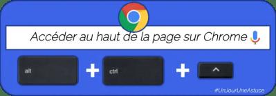 Accéder au haut d'un page web sous Chrome #UnJourUneAstuce