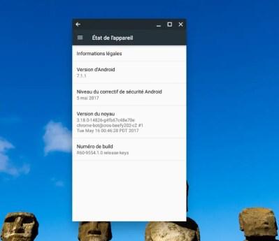 La version 7.1.1 de Android Nougat arrive sur Chromebook