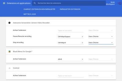 Comment gérer les extensions Chrome grâce à vos propres raccourcis clavier